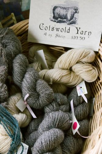 Hand-spun cotswold yarn